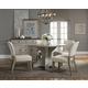 Standard Furniture Dakota 6-Piece Round Dining Table Set in Two-tone