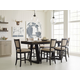 Kincaid Plank Road 7pc Kimler Counter Height Dining Set in Charcoal