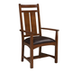 Intercon Furniture Oak Park Wide Slat Arm Chair (Set of 2) in Mission