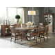Magnussen Furniture Willoughby 7pc Rectangular Dining Set in Weathered Barley