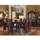 Acme Versailles 7-Piece Counter Height Dining Set in Cherry Oak