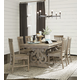 Magnussen Furniture Tinley Park 7pc Rectangular Dining Set in Dove Tail Grey