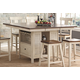 New Classic Heather Island Counter Table in Cream/Brown D1309-12 PROMO