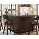 ECI Furniture Gettysburg Return Bar in Heavily Distressed Walnut 1475-05-RT/RB/R