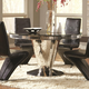 Coaster Furniture Barzini Round Glass Dining Table in Black 105061