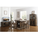 New Classic Furniture Tuscany Park 5pc Counter Height Dining Set in Vintage Gray