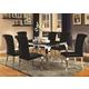 Coaster Furniture Carone 7pc Dining Set in Black