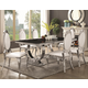 Coaster Furniture Antoine 7pc Dining Table with Glass Top Set in Black
