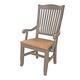 A-America Furniture Port Townsend Slatback Arm Chair in Seaside Pine (Set of 2) POTSP266K