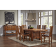 A-America Furniture Mission Hill 7pc Trestle Dining Set in Harvest