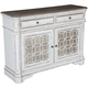 Liberty Furniture Magnolia Manor Buffet in Antique White 244-CB5692 SPECIAL EST SHIP TIME IS 4 WEEKS