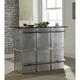 Acme Furniture Brancaster Rectangular Bar Table in Marble/Aluminum 70450