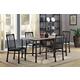 Acme Furniture Caitlin 5pc Rectangular Dining Set in Rustic Oak and Black