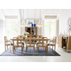 Legacy Classic Furniture Hygge Collection 9 pcs Dining Room Set in Cashmere