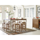 Legacy Classic Furniture Hygge Collection 9 pcs Pub Table Dining Room Set in Cashmere