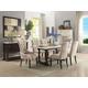 Acme Furniture Gerardo 7pc Rectangular Dining Set in White and Espresso