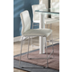 Acme Furniture Gordie Checkered Counter Height Chair in White/Chrome (Set of 2) 70254