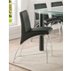 Acme Furniture Gordie Counter Height Chair in Black/Chrome (Set of 2) 70258