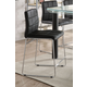 Acme Furniture Gordie Checkered Counter Height Chair in Black/Chrome (Set of 2) 70259