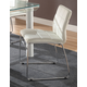 Acme Furniture Gordie Checkered Side Chair in White/Chrome (Set of 2) 70263