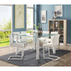 Acme Furniture Gordie 5pc Square Counter Height Set in White