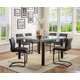 Acme Furniture Gordie 5pc Square Counter Height Set in Black