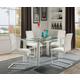 Acme Furniture Gordie 5pc Rectangular Leg Dining Set in White
