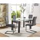 Acme Furniture Gordie 5pc Rectangular Leg Dining Set in Black