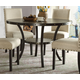 Acme Furniture Hadas Round Leg Dining Table in Walnut 72055