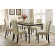 Acme Furniture Hadas 7pc Rectangular Leg Dining Set in Walnut