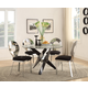 Acme Furniture Hagelin 5pc Round Dining Set in Black and Chrome