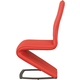 Acme Furniture Hassel Side Chair in Red and Gunmetal (Set of 2) 70602
