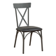 Acme Furniture Itzel Side Chair in Black and Sandy Gray (Set of 2) 72082