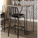 Acme Furniture Jodie Bar Table in Rustic Oak and Antique Black 71990