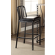 Acme Furniture Jodie Bar Chair in Black PU and Antique Black (Set of 2) 71992