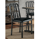 Acme Furniture Jodie Side Chair in Black PU and Antique Black (Set of 2) 71997
