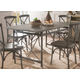 Acme Furniture Kaelyn II Dining Table in Gray Oak and Sandy Gray 60120
