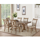 Acme Furniture Harald 7pc Rectangular Dining Set in Gray Oak