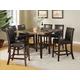 Acme Furniture Idris 7pc Counter Height Set in Espresso