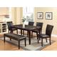 Acme Furniture Idris 6pc Dining Room Set in Espresso