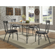 Acme Furniture Itzel 5pc Dining Set in Antique Oak and Sandy Gray