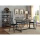 Acme Furniture Jodie 7pc Dining Set in Rustic Oak and Antique Black
