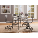 Acme Furniture Jonquil 5pc Round Dining Set in Gray Oak and Sandy Gray