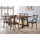 Acme Furniture Kaelyn 7pc Dining Set in Dark Oak