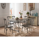 Acme Furniture Kaelyn II 7pc Dining Set in Gray Oak and Sandy Gray