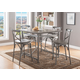 Acme Furniture Kaelyn II 5pc Counter Height Dining Set in Gray Oak and Sandy Gray