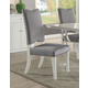 Acme Furniture Martinus Side Chair in Gray and White (Set of 2) 74722