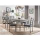Acme Furniture Ornat 7pc Rectangular Dining Set in Gray