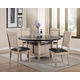 Acme Furniture Ramona 5pc Square/Round Dining Set in Dark Walnut And Antique Beige