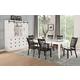 Acme Furniture Renske 7pc Rectangular Dining Set in Antique White and Black